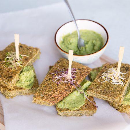 broccolibrood, gezonde eiwitrijke lunch